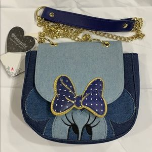 Disney Loungefly Minnie Mouse Denim Crossbody Bag!